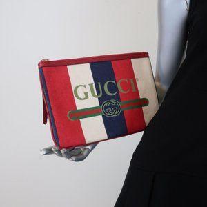 Gucci Linea Merida Striped Canvas Sylvie Baiadera